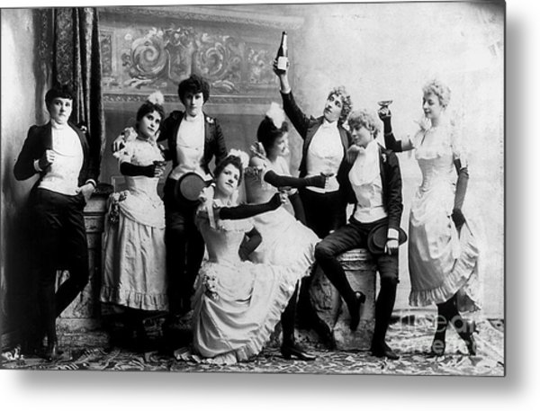 Cheers Ladies Metal Print