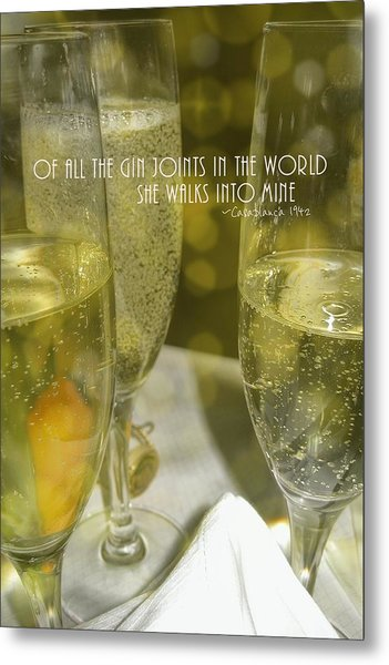 Cheers Quote Metal Print by JAMART Photography