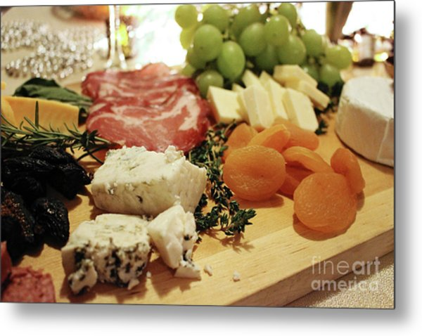 Cheese And Meat Metal Print
