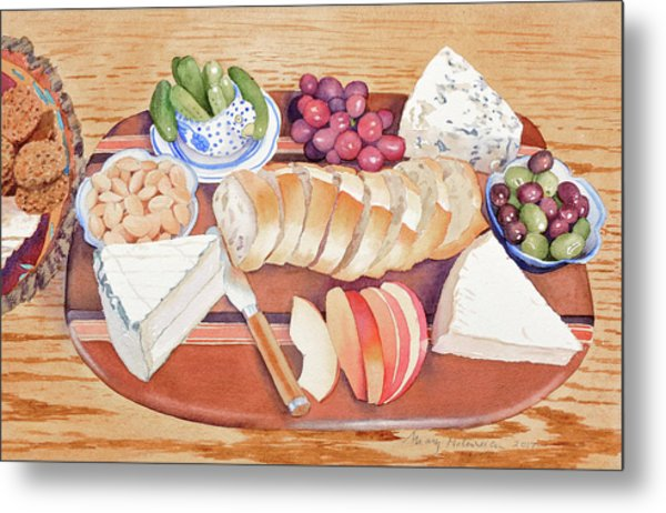 Cheese Plate For A Party Metal Print