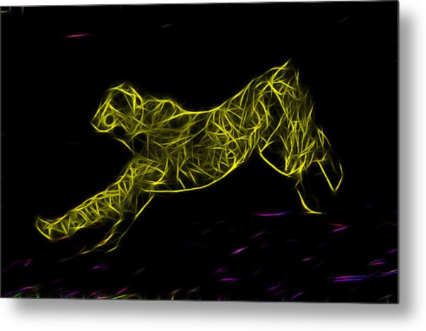 Cheetah Body Built For Speed Metal Print
