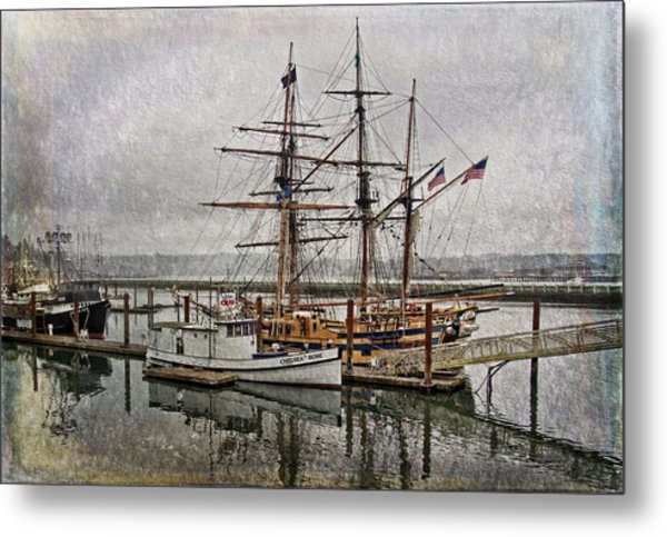 Chelsea Rose And Tall Ships Metal Print