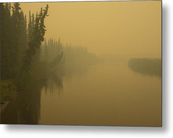 Metal Print featuring the photograph Chena River by Gary Lengyel