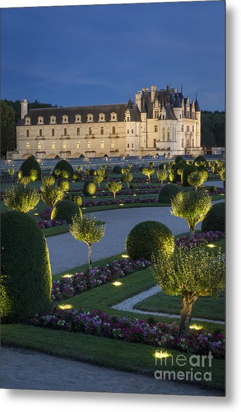 Chenonceau Lights Metal Print