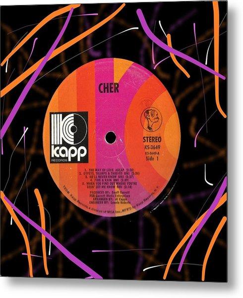 Cher Kapp Lp Label Metal Print