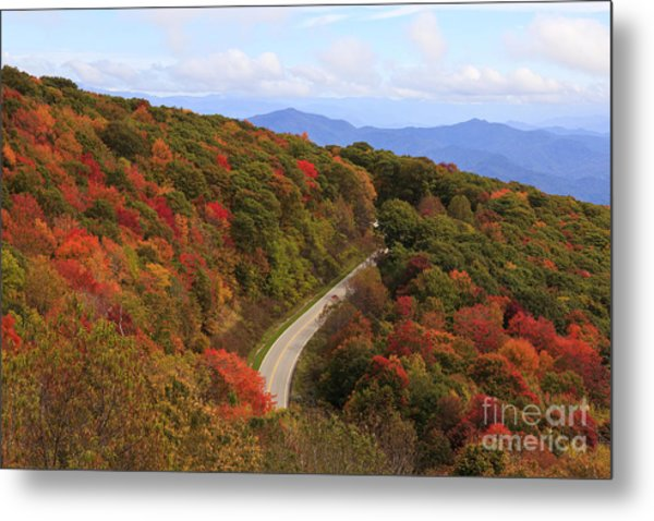 Cherohala Skyway In Nc Metal Print