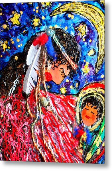 Cherokee Trail Of Tears Mother And Child Metal Print