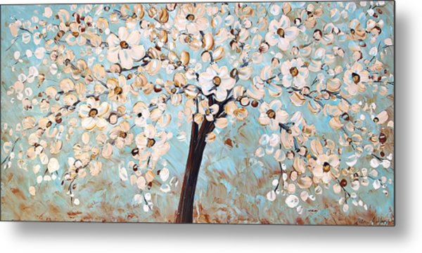 Cherry Blossoms Metal Print by Jolina Anthony