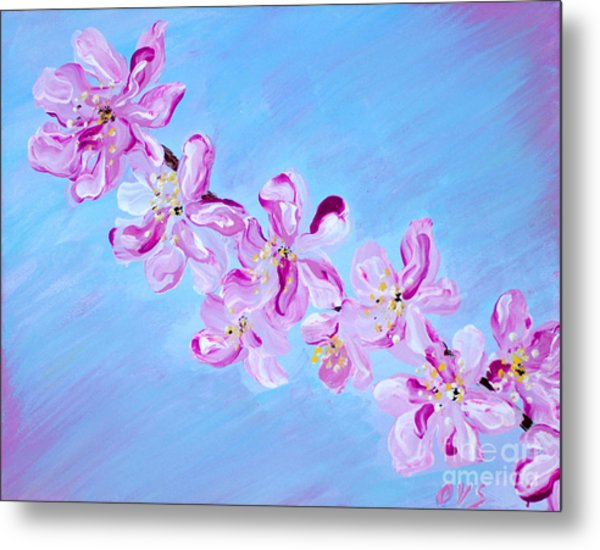 Cherry Blossoms. Thank You Collection Metal Print