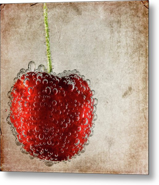 Cherry Fizz Metal Print