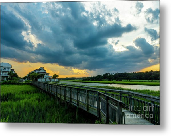 Cherry Grove Channel Marsh Metal Print