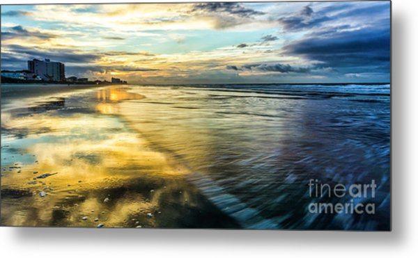 Cherry Grove Golden Shimmer Metal Print