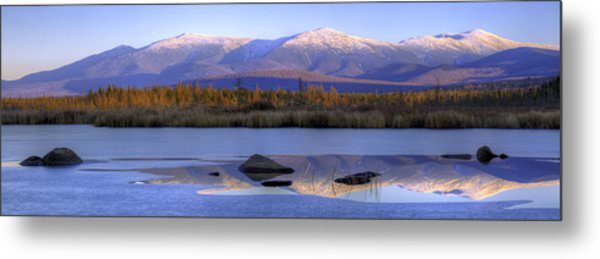 Cherry Pond Reflections Panorama Metal Print