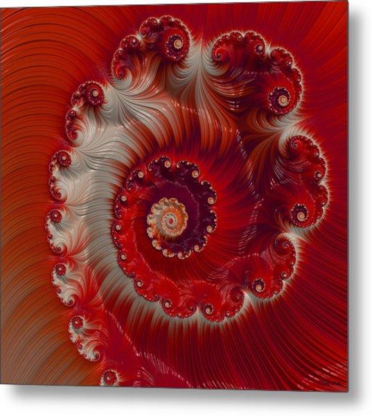 Cherry Swirl Metal Print