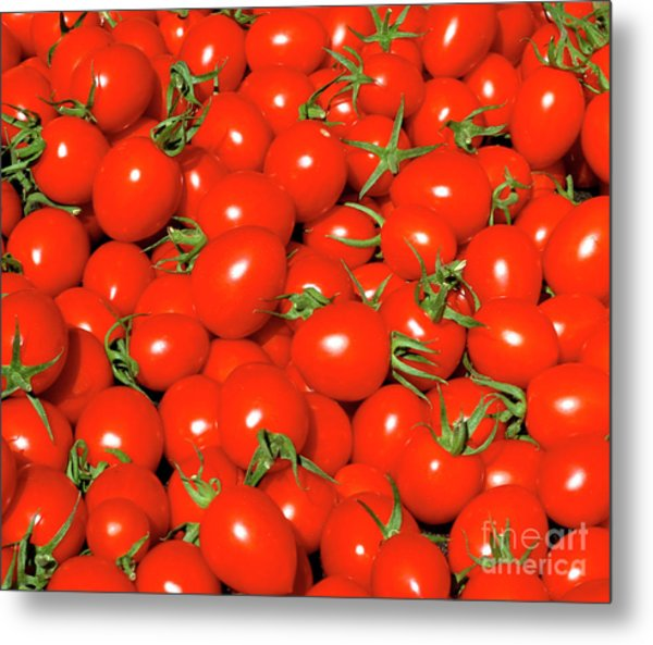 Cherry Tomatoes Metal Print