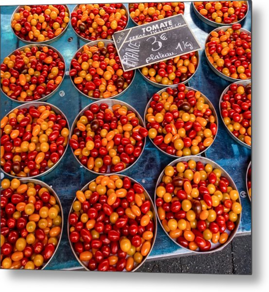 Cherry Tomatoes In Lyon Market Metal Print