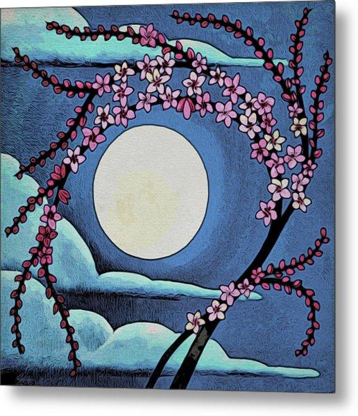 Cherry Whip Moon Metal Print