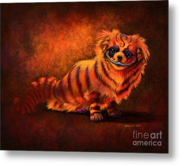 Cheshire Canine Metal Print