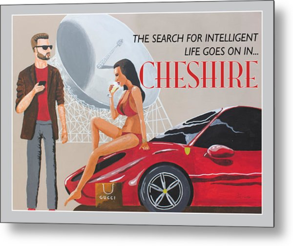 Cheshire Poster Metal Print