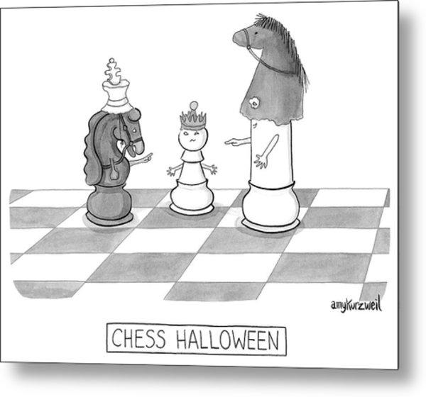 Chess Halloween Metal Print by Amy Kurzweil