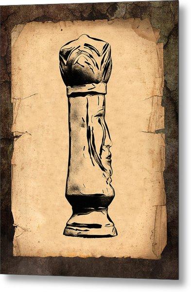 Chess King Metal Print