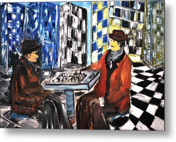 Chess Mania Metal Print