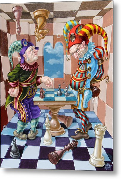 Chess Players Metal Print