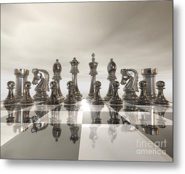 Chess - Regiment Metal Print