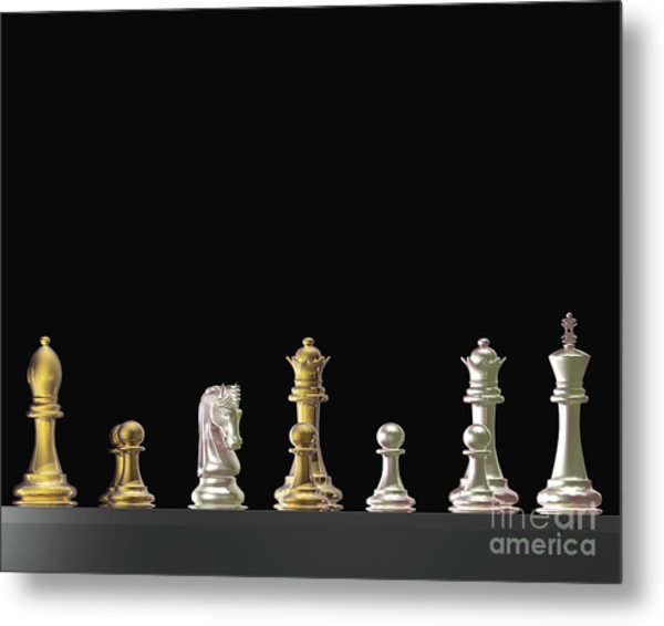 Chess - Us And Them Metal Print