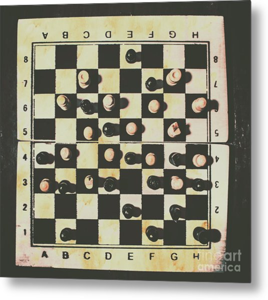 Chessboards And Playing Pieces Metal Print