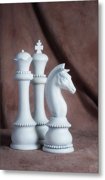 Chessmen Iv Metal Print
