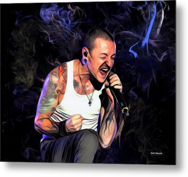 Chester Bennington From Linkin Park  Metal Print