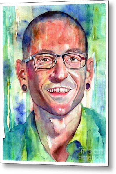 Chester Bennington Portrait Metal Print