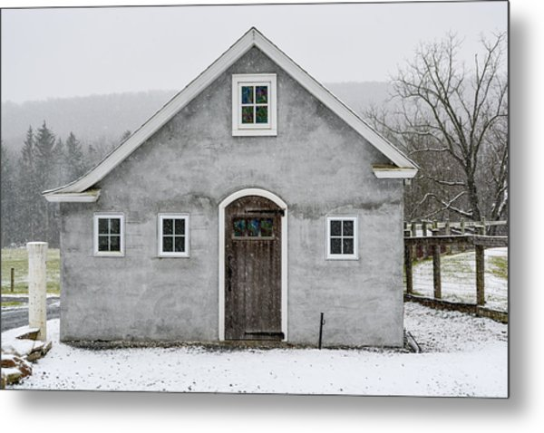 Chester County In The Snow Metal Print