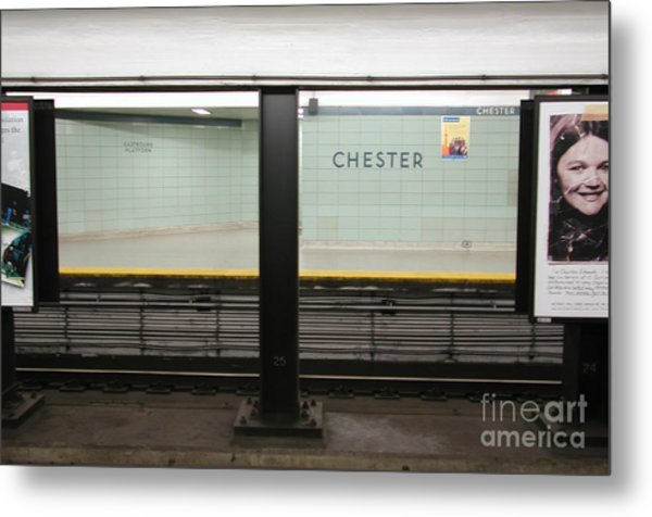 Chester Station Toronto Metal Print