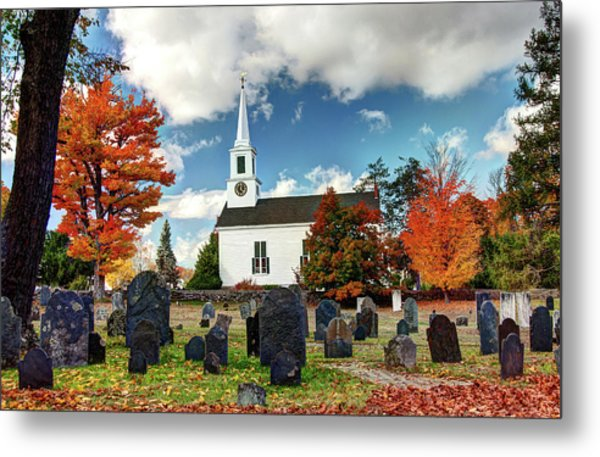 Chester Village Cemetery In Autumn Metal Print