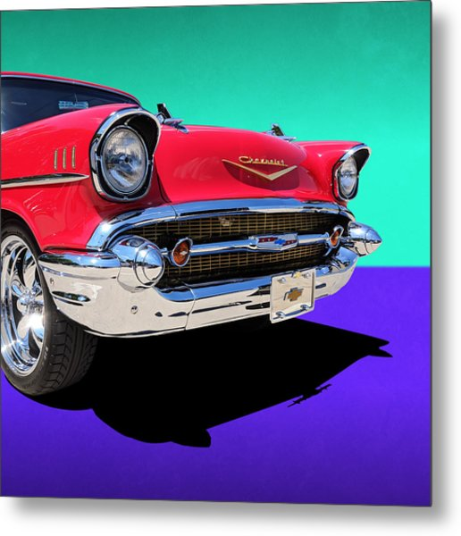 Chevrolet Bel Air Color Pop Metal Print