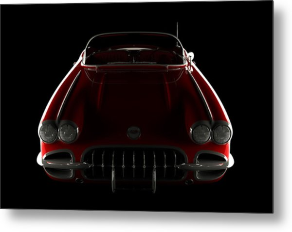 Chevrolet Corvette C1 - Front View Metal Print