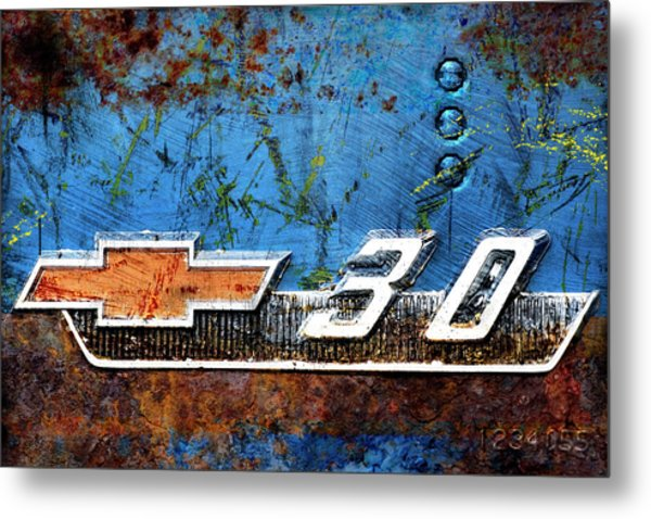 Chevy 3.0 Photomontage Metal Print