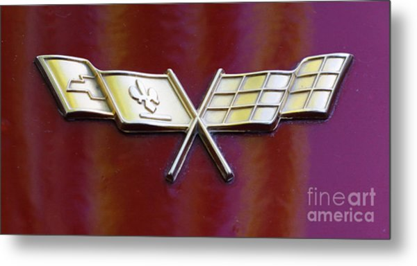 Chevy Corvette Metal Print