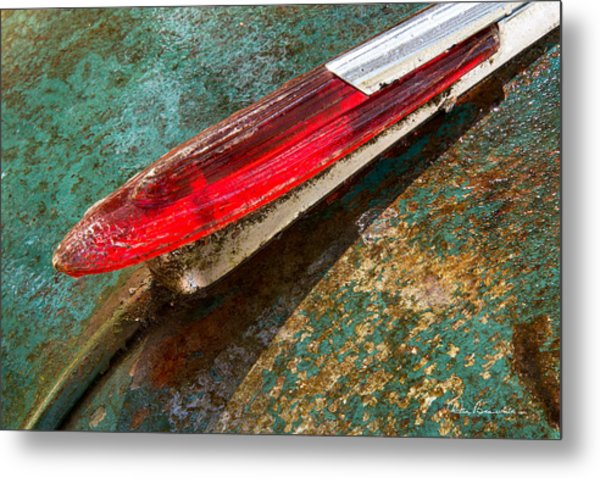 Chevy Deluxe Hood Ornament Metal Print
