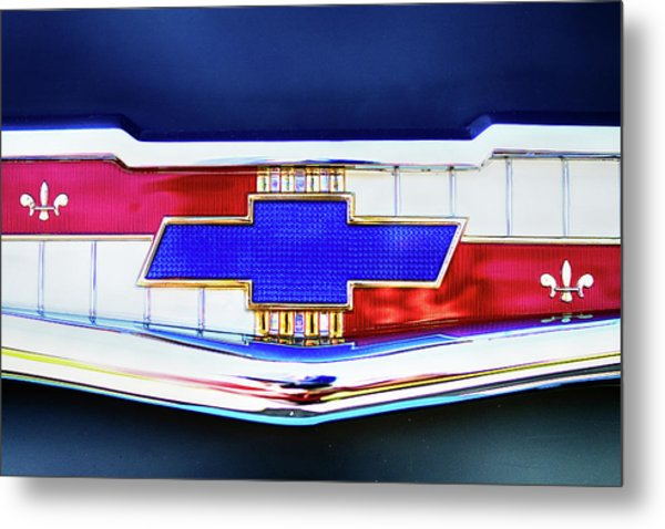 Chevy's Fifties Bowtie Metal Print