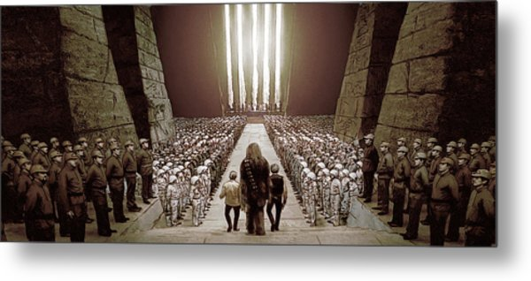 Chewbacca's March To Disappointment Metal Print