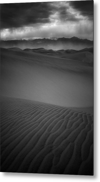 Chewing Sand Metal Print