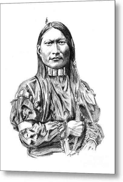 Cheyenne Man Metal Print