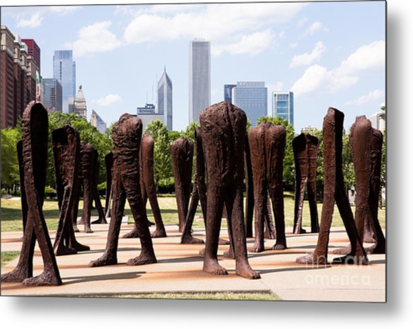 Chicago Agora Headless Statues Metal Print by Paul Velgos