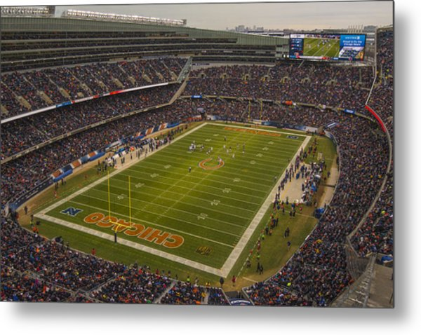 Chicago Bears Soldier Field 7795 Metal Print
