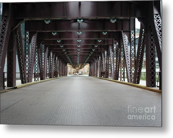 Chicago Bridges Metal Print