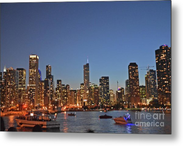 Chicago Bright Metal Print by Andrea Simon