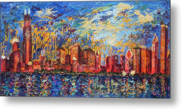 Chicago City Scape Metal Print